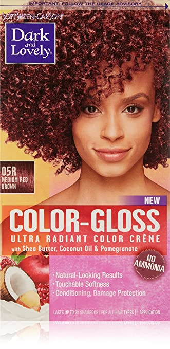Softsheen Carson Dark And Lovely Color Gloss Ultra Radiant Color Creme Medium Red Brown 05r