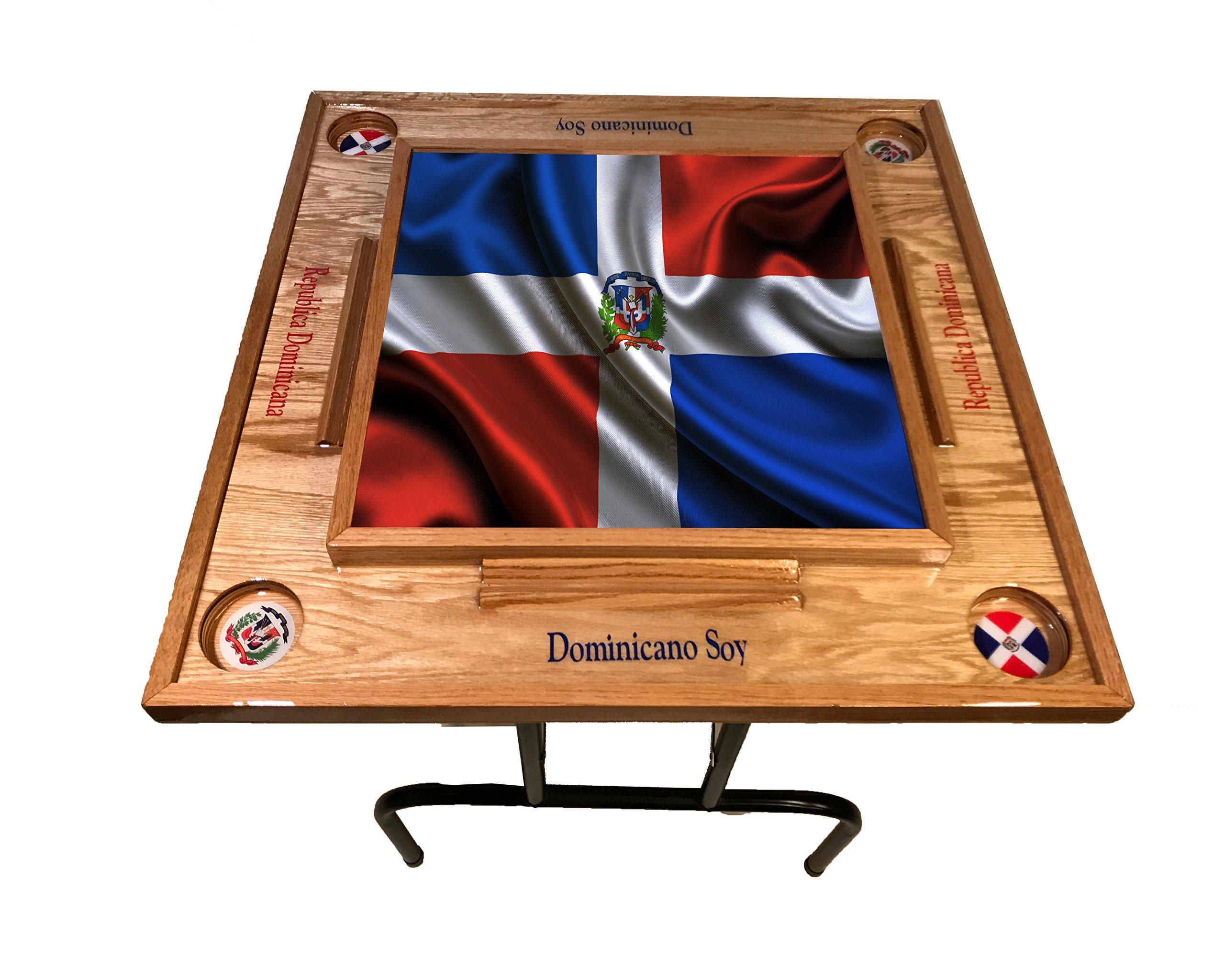 latinos r us Dominican Republic w Full Falg Domino Table (Natura)
