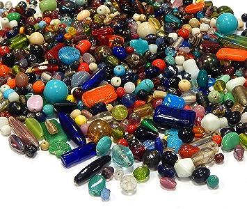 8mm Bunte Glasperlen Basteln Perlen Schmuck Crafting DIY Glas mehrfarbig