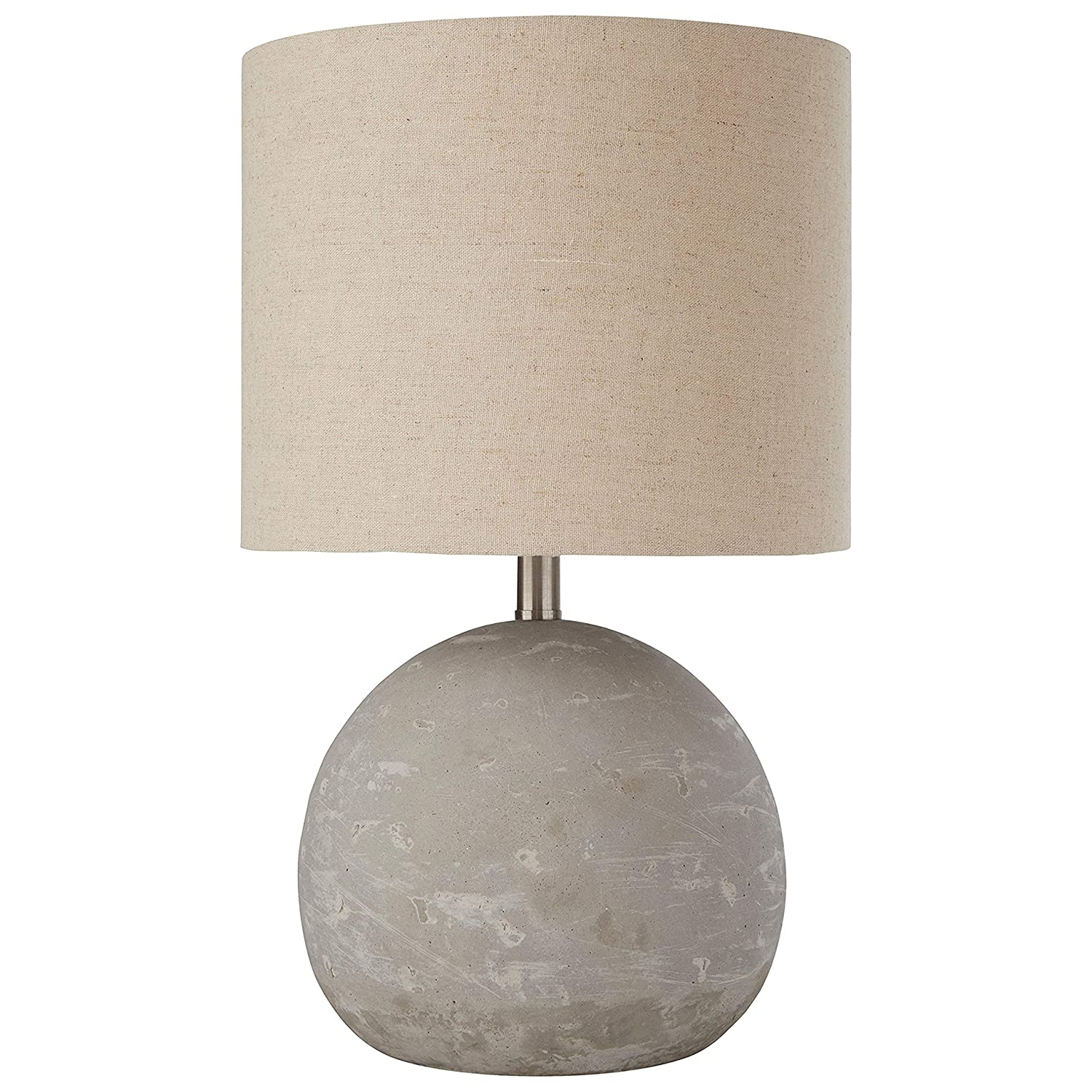 "Stone & Beam Industrial Concrete Table Lamp, 16""H, With Bulb, Brown Shade"