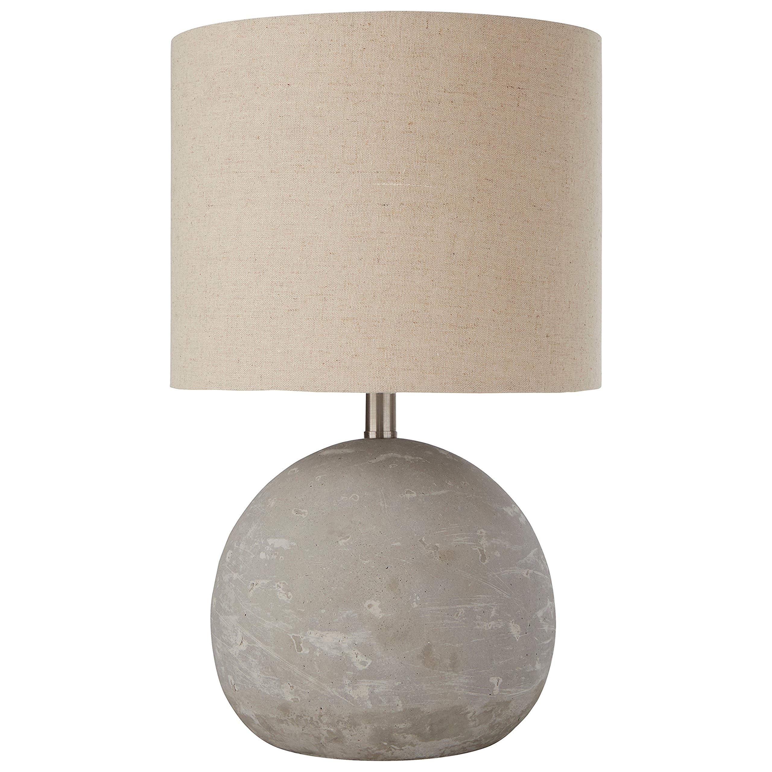 Stone & Beam Industrial Concrete Table Lamp, 16''H, With Bulb, Brown Shade