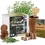 Indoor Herb Garden Starter Kit - Certified USDA Organic Non GMO - 5 Herb Seed Basil, Cilantro, Parsley, Sage, Thyme, Potting