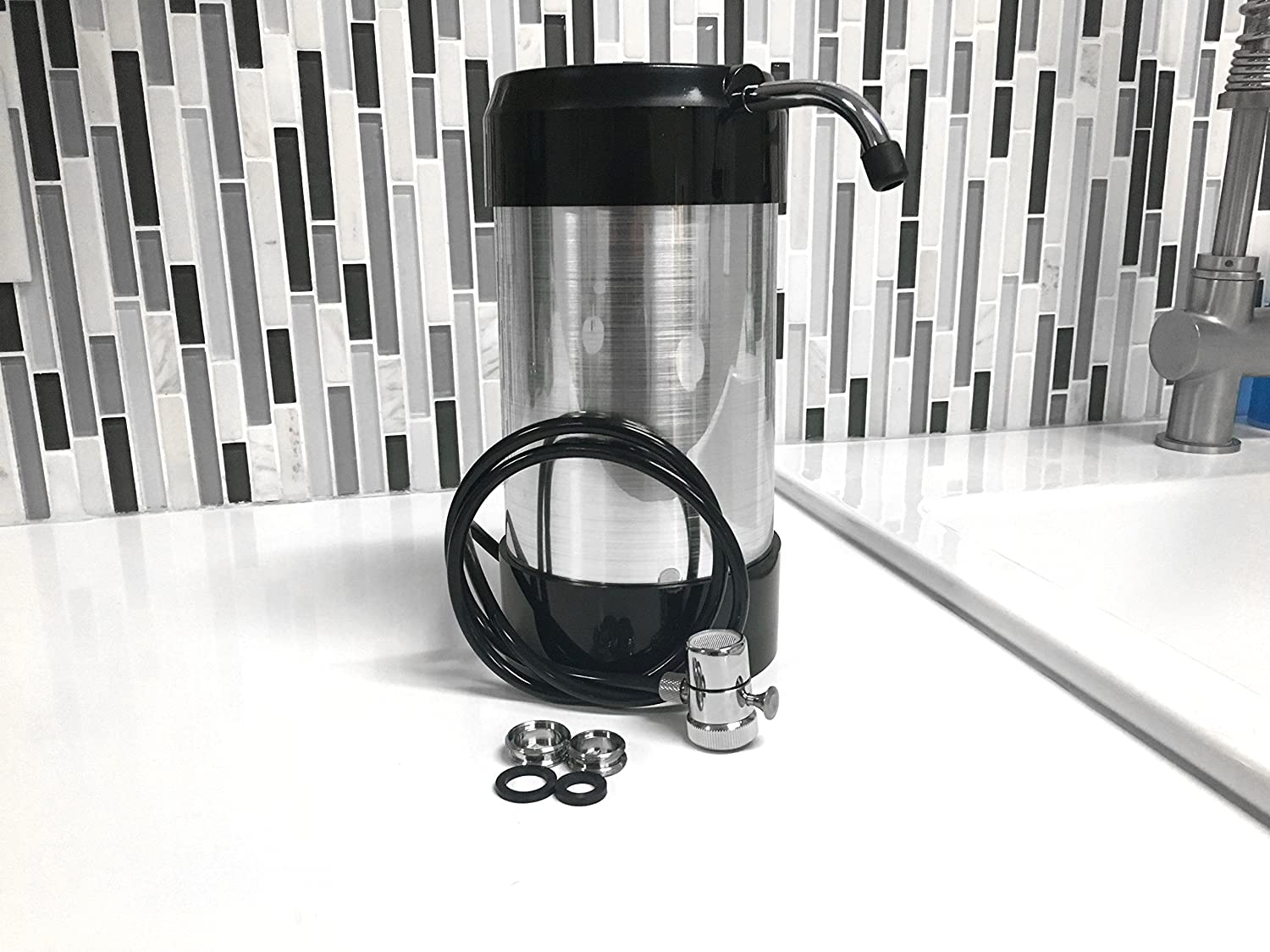 CleanWater4Less® Countertop Water Filter in real life
