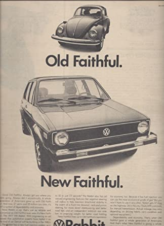 Amazon Print Ad For 1977 Volkswagen Rabbit Beetle Cars
