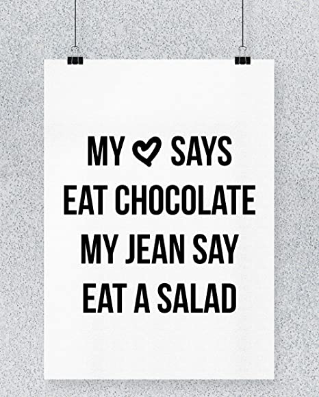 Compra Hippowarehouse My Heart Says Eat Chocolate, My Jeans ...