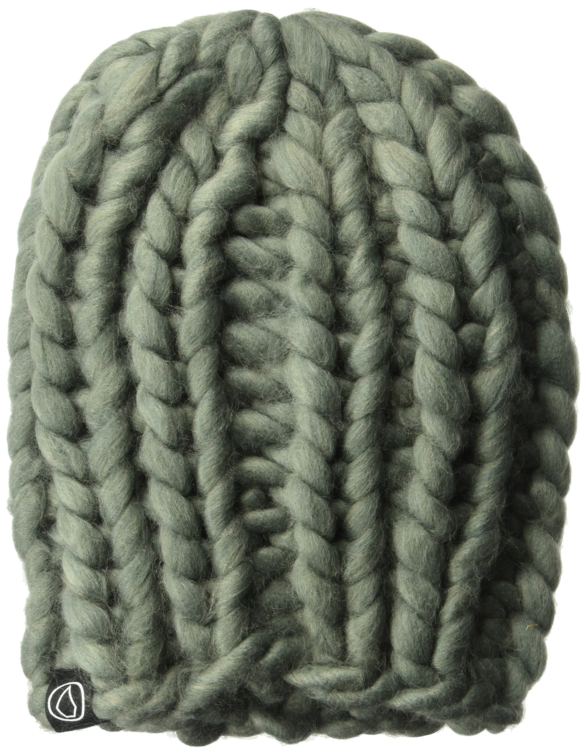 Volcom Junior's Heyland Extra Chunky Fine Acrylic Snowboarding Beanie, Charcoal, ONE Size fits All