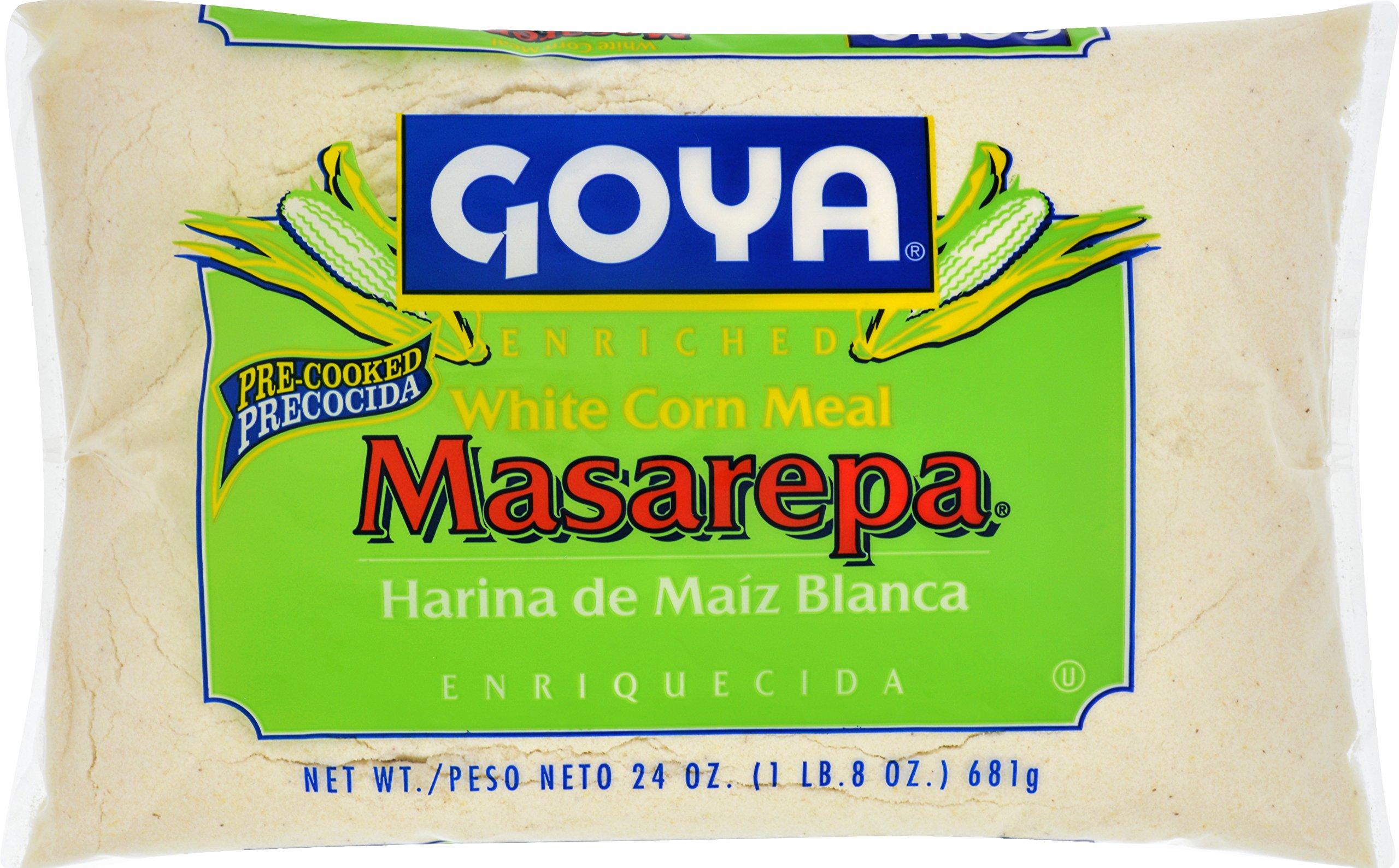 Goya Foods Masarepa Corn Meal, White, 24 Ounce