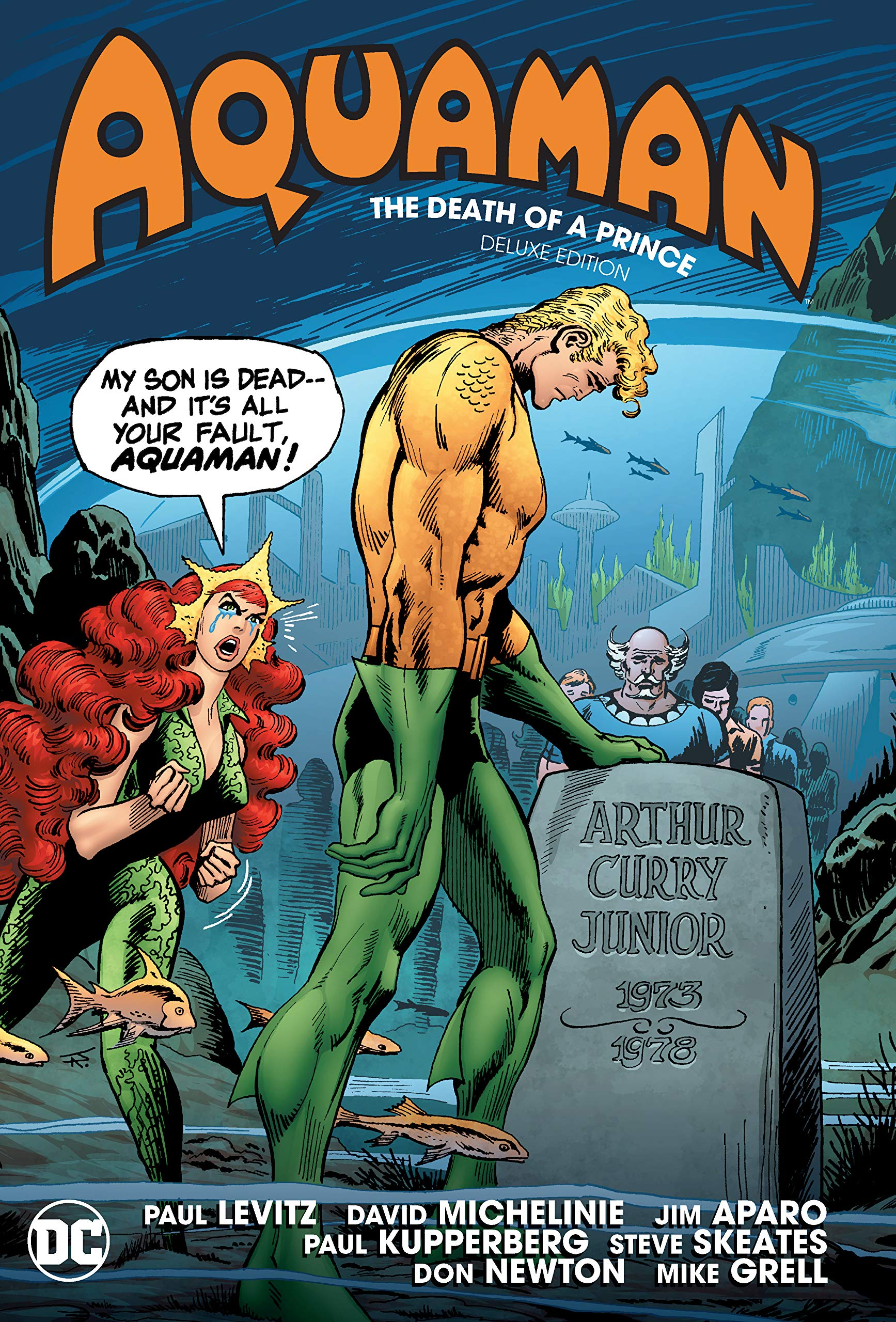 AQUAMAN DEATH OF A PRINCE DLX ED HC