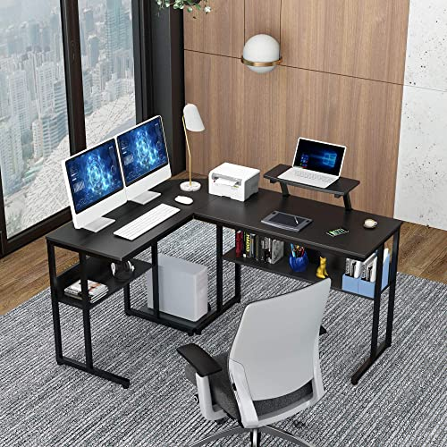 Ruitta Computer Corner Desk 58″ L-Shaped Desk