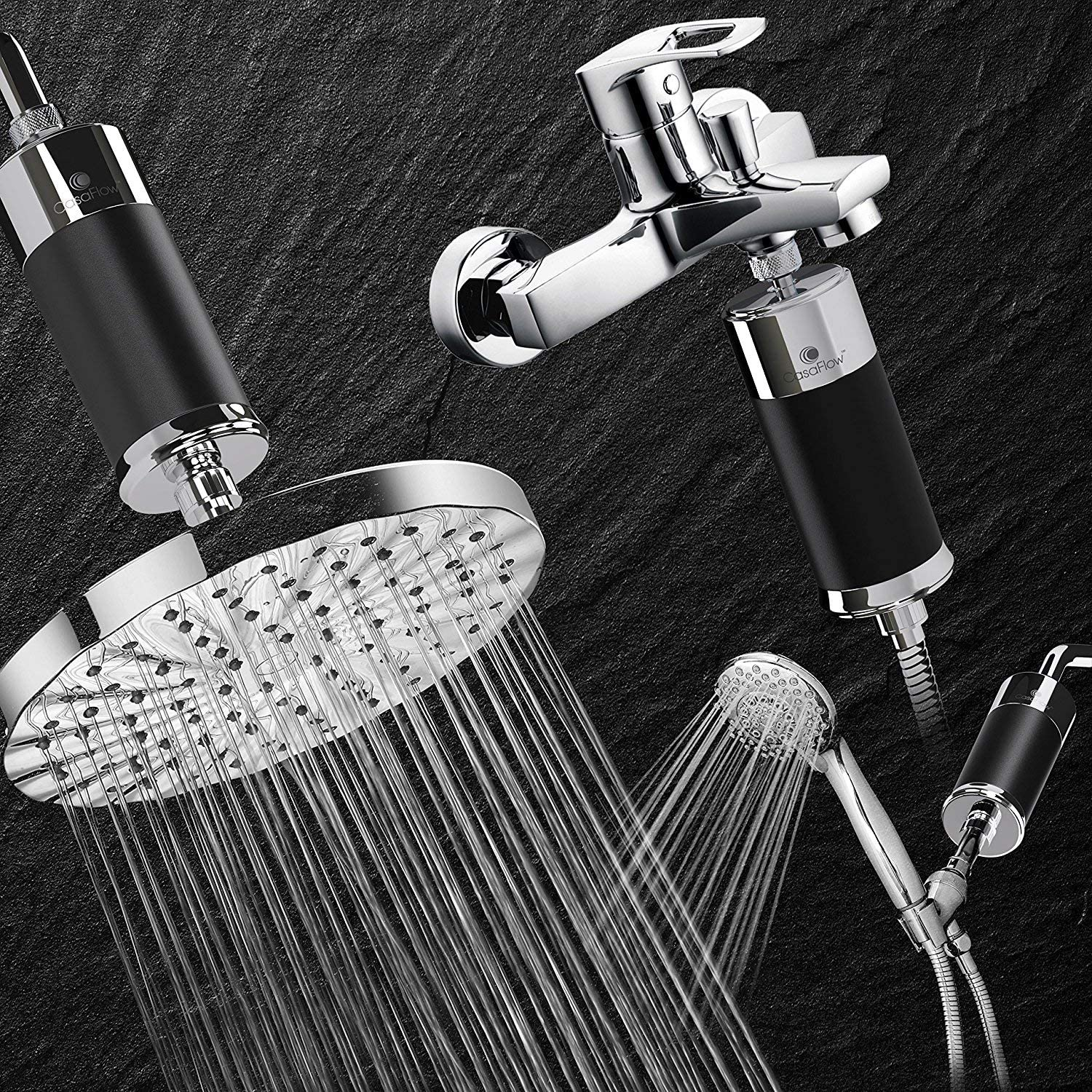 CasaFlow Shower Head Water Filter in real life
