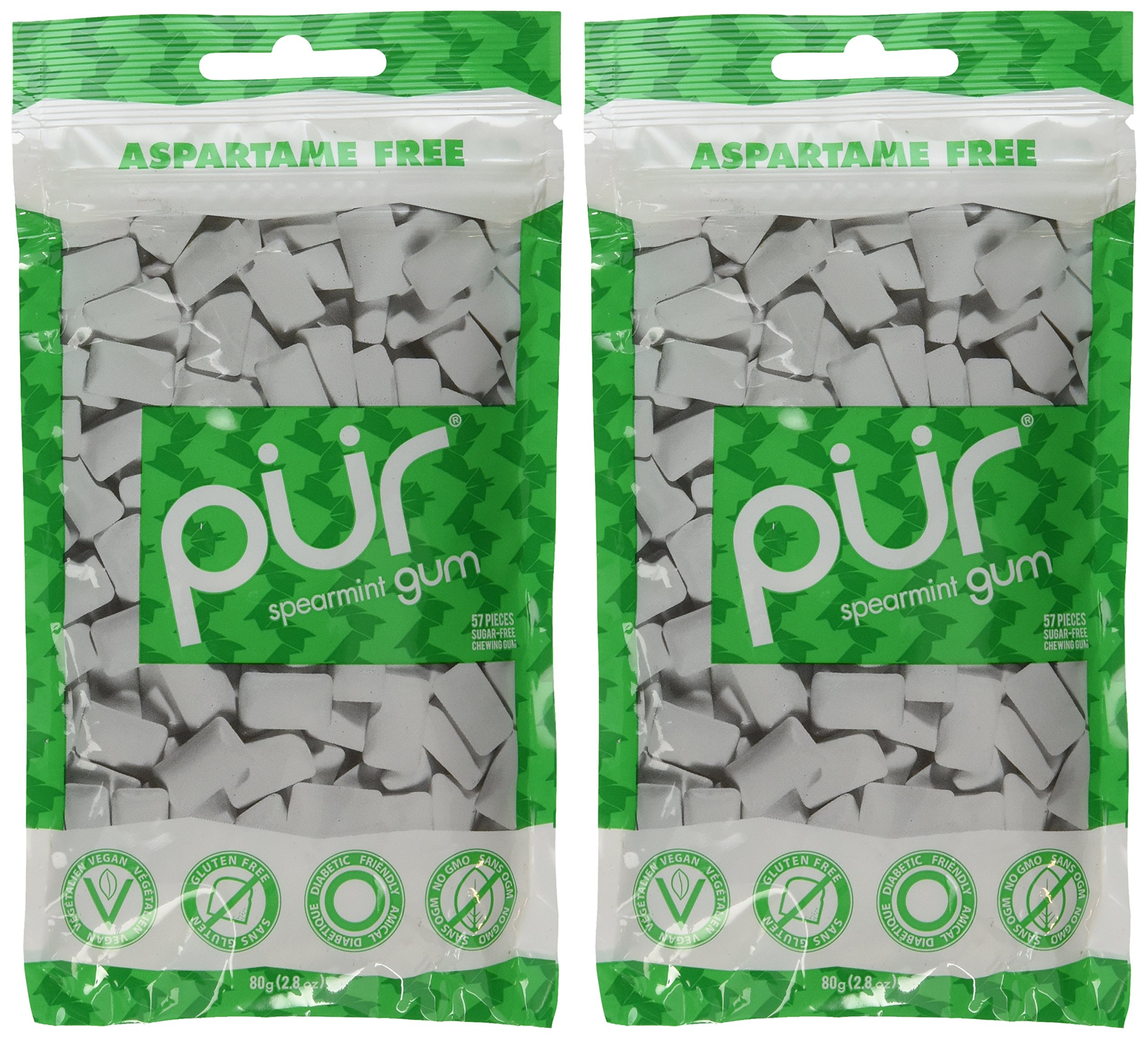 Pur Gum, Spearmint, 2.82-Ounce, 2 Pack by PUR