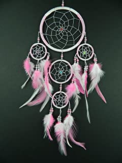 Dream catcher pink heart dreamcatcher silver web amazon silver web pink dream catcher single dreamcatcher voltagebd