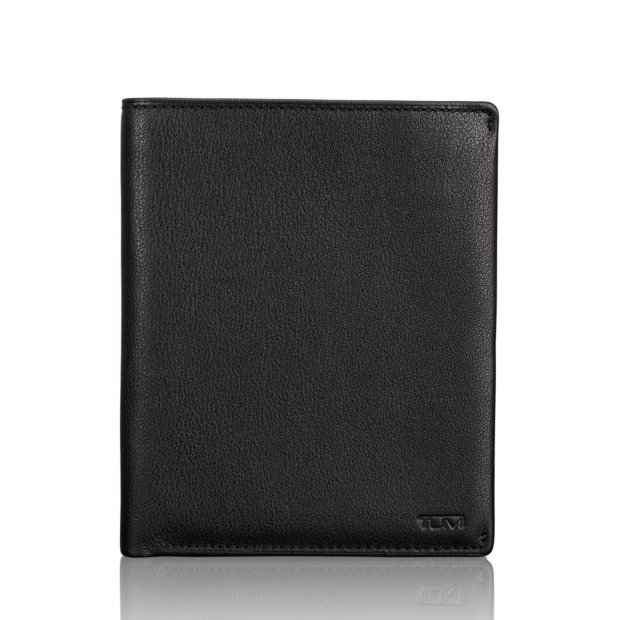 TUMI Men's Nassau Passport Case Accessory, -black textured, one size