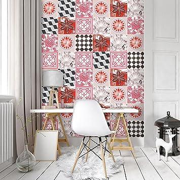 Fototapete Vlies Tapete Vliestapete Forwall Rosa Fliesen Mosaik