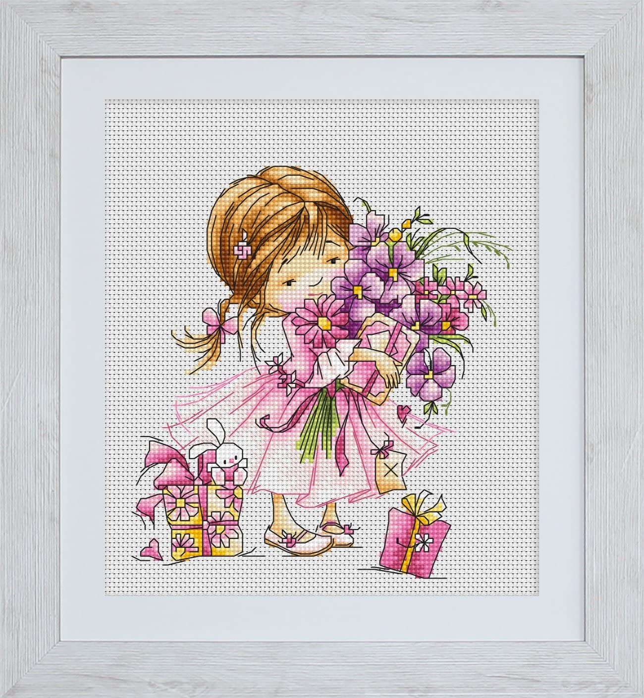 Blooming garden Counted Cross Stitch Kit Luca-S