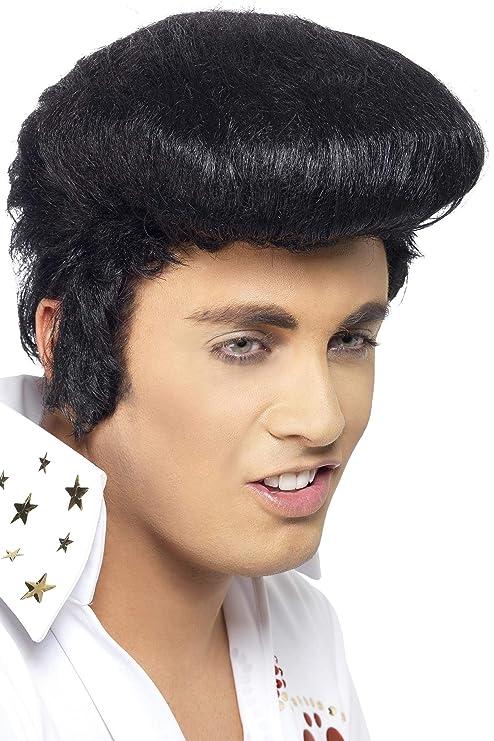 Smiffys Déguisement Perruque Elvis Luxe,
