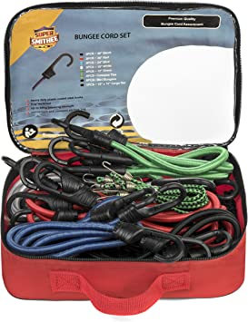 """24pc Bungee Bungie Cord Tie Down Straps Set Assortment 8 each 12/"""" 18/"""" 24/"""" NEW"""