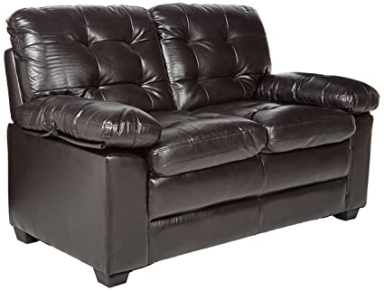 Amazoncom Homelegance Charley 60 Faux Leather Upholstered Love