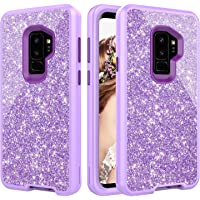 Dailylux 3-Layer Defender Heavy Duty Shockproof Protective Glitter Cover for Samsung Galaxy S9+(Multi Colours)