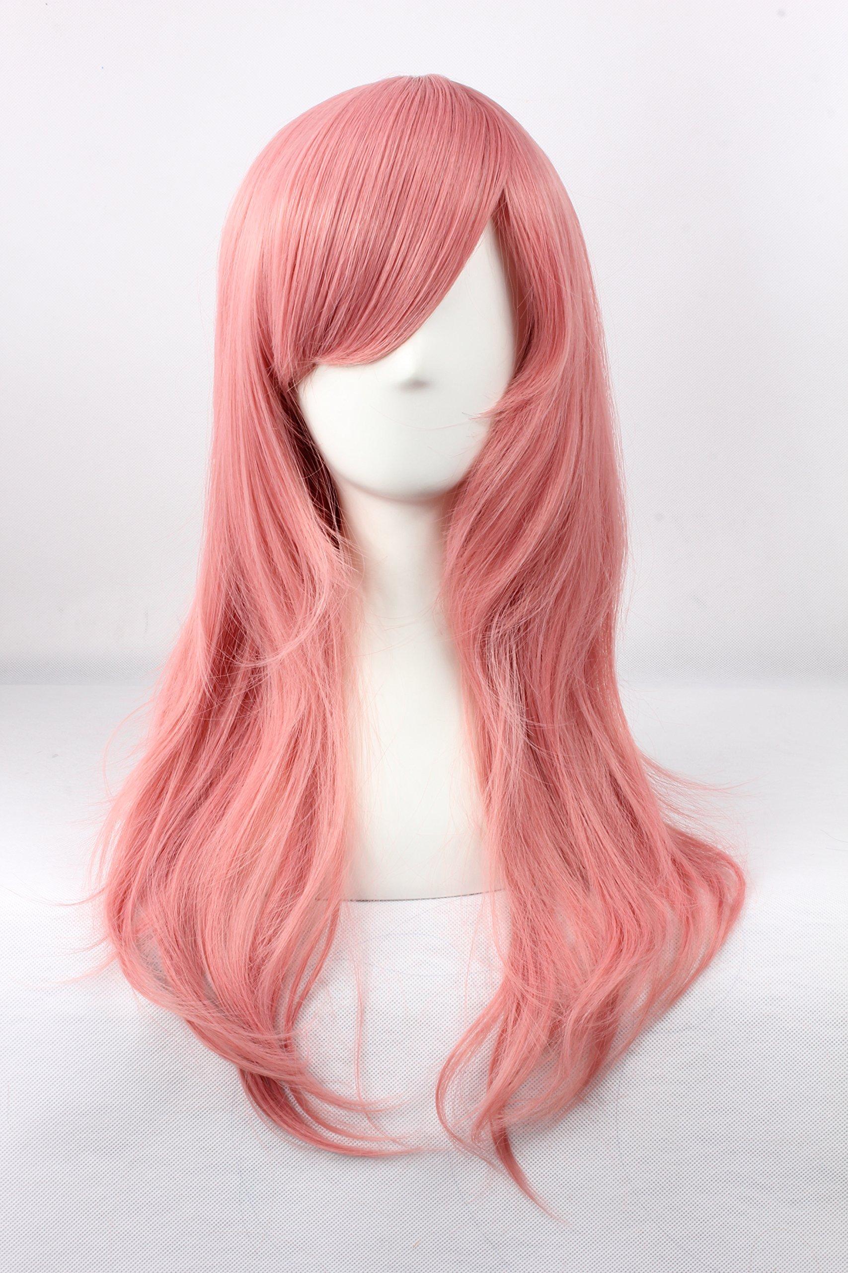 Coolsky Arakawa Under the Bridge Maria Long Mixed Light Pink Wigs Home Tutor Cosplay Hair Wig