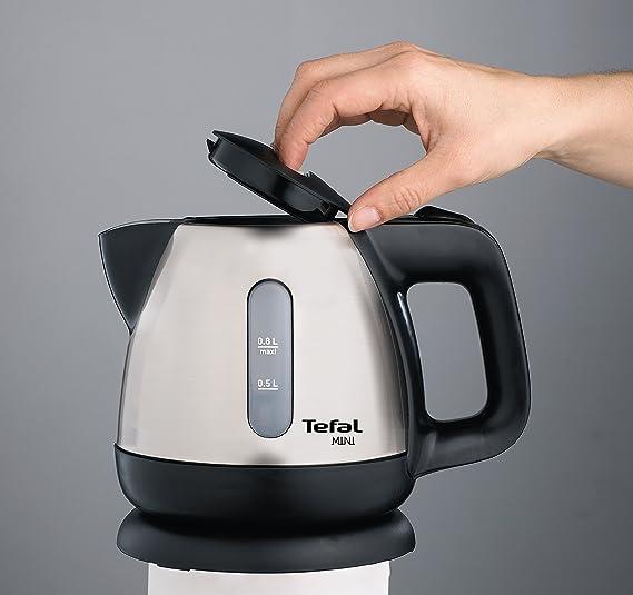Tefal BI8125 Mini Inox Edelstahl Wasserkocher 0,8 l Fassungsvermögen 2.200 Wat