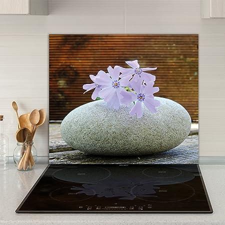 60 x 52 cm motivo: cucina in ceramica e vetro temprato Home Decor Piastre di copertura per piano cottura a induzione