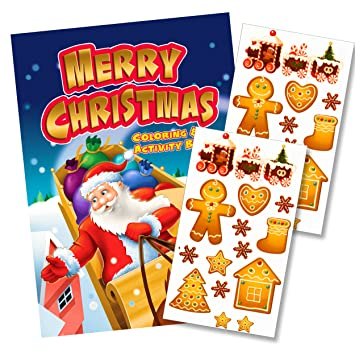 santa christmas coloring book with scratch sniff scented stickers santa coloring book and gingerbread