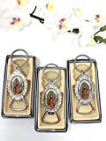 12 PCS Our Lady of Guadalupe Favor Baptism First Communion Memory Gift Silver Keychains With Bottle Opener/Recuerdos De…