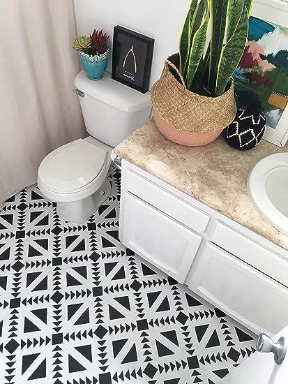 Amazon Com Concrete Quilt Tile Painting Stencils Custom Tile