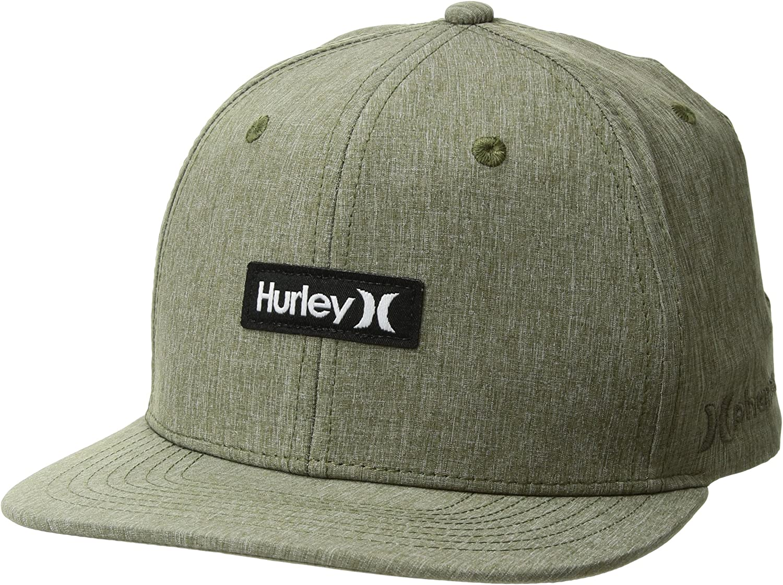 Hurley Mens One Size Icon Dri-Fit Adjustable Hat Khaki//Black, One Size