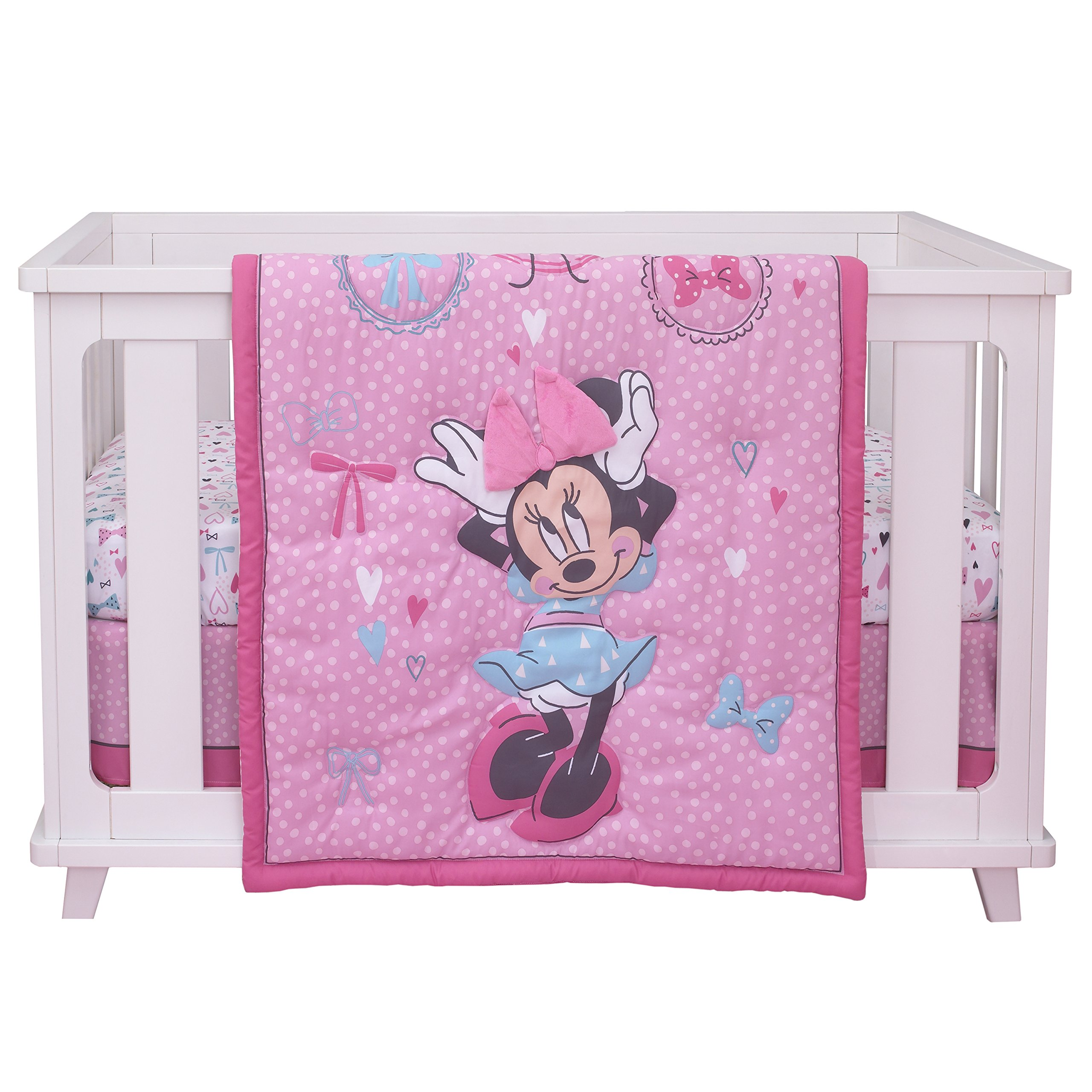 Disney Baby Minnie Mouse All About Bows 4 Piece Nursery ...