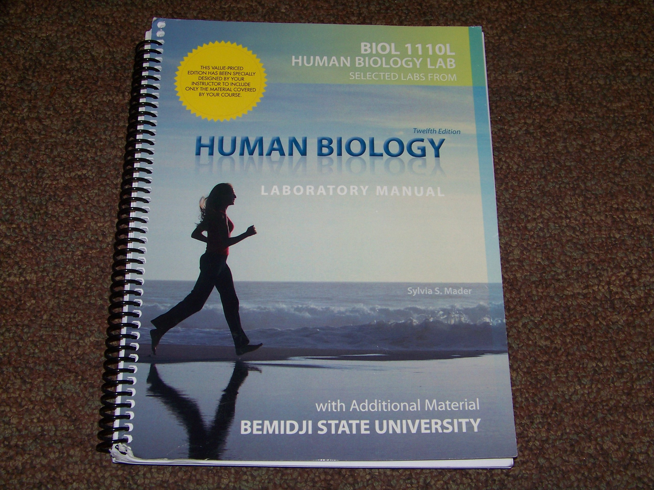 Human Biology Laboratory Manual: With Additional Material Bemidji State  University: Sylvia S. Mader: 9780077693497: Amazon.com: Books