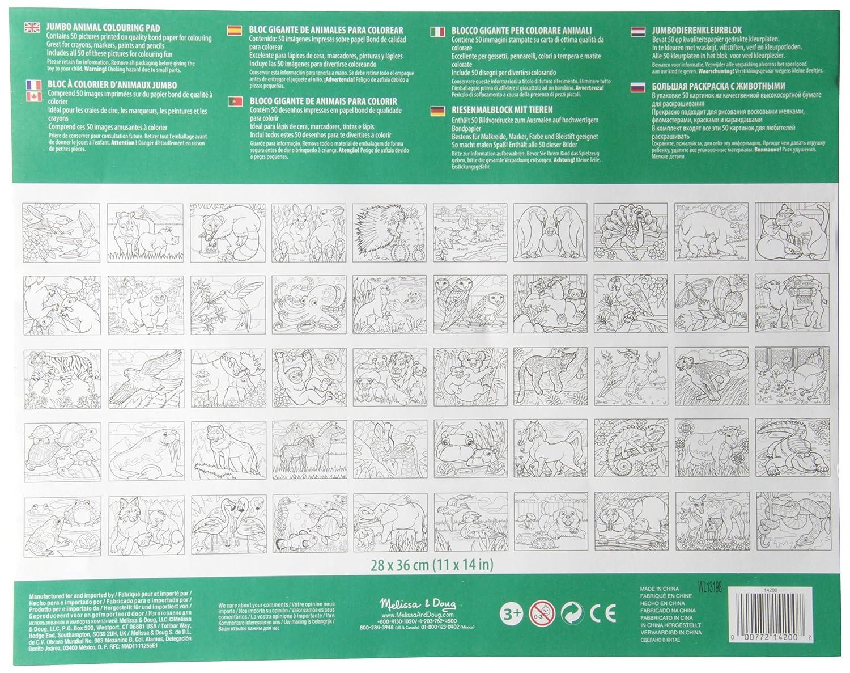 Melissa & Doug - Bloc gigante de animales para colorear (14200): Amazon.es: Juguetes y juegos