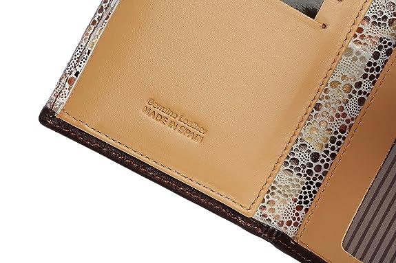 Amazon.com: Mujer Piel Auténtica portafolios – Hecho a mano ...