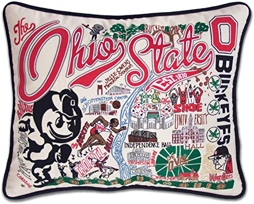 Catstudio Ohio State University Collegiate Embroidered Decorative Throw Pillow