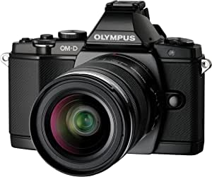Olympus OM-D E-M5 16MP Live MOS Interchangeable Lens Camera with 3.0-Inch Tilting OLED Touchscreen and 12-50mm Lens (Black) - International Version (No Warranty)