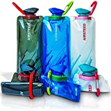 Collapsible Water bottle by AIRSTEED | (3 Pack) Antibacterial BPA FREE Flexible Foldable Reusable Outdoor 700ml Water Bottles