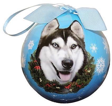 Amazon.com: Siberian Husky Christmas Ornament Shatter Proof Ball ...