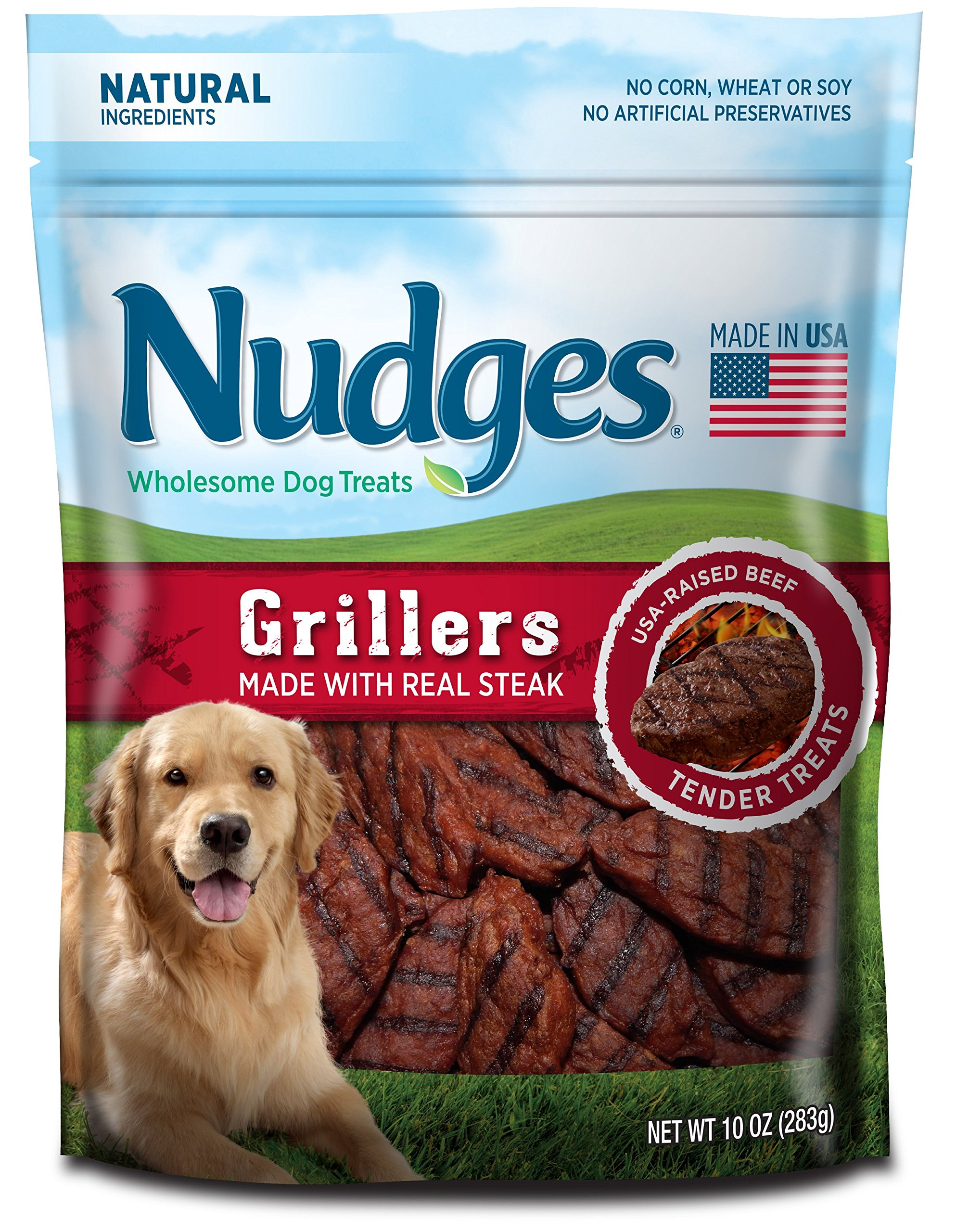 Nudges Grillers Dog Treats, Steak, 10 Ounce by Nudges (Image #1)
