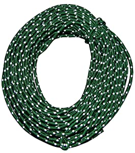 Nite Ize Reflective Cord Pack, 50 FT High-Strength, High-Visibility Green Reflective Cord For Tying Down Tarps + Tents
