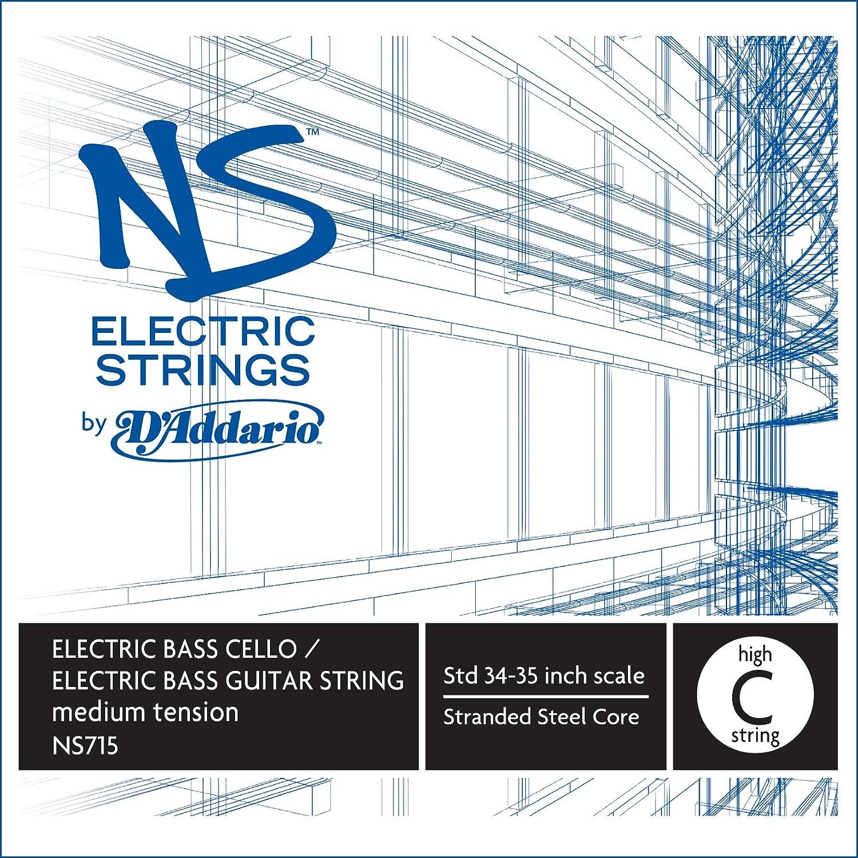 D'Addario NS Electric Bass/Cello Single High C String, 4/4 Scale, Medium Tension D'Addario NS715