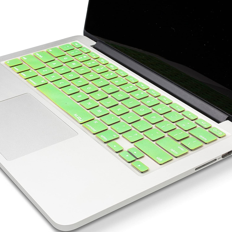 Kuzy - MacBook Keyboard Cover for Older Version MacBook Pro 13 15 17 inch and MacBook Air 13 inch, iMac Wireless Keyboard, Apple Computer Accessories Key Board Silicone Skin Protector - Metallic Green