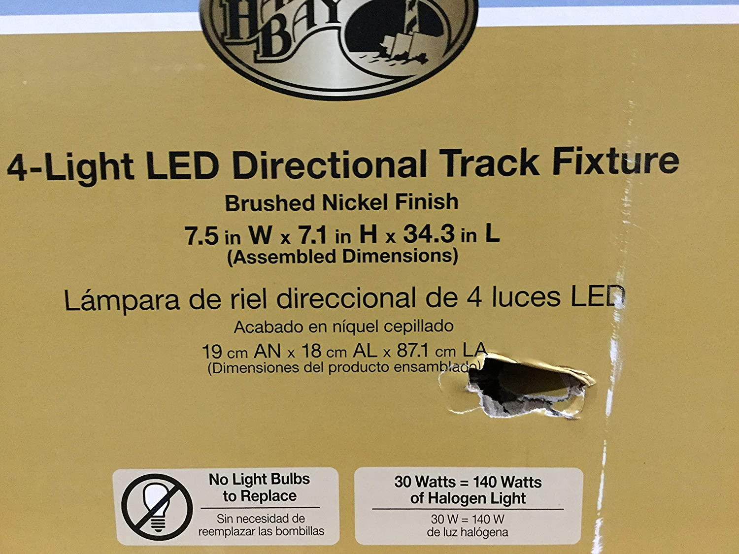 4-Light Brushed Nickel Integrated LED Track Lighting Kit with Flush Mount: Amazon.com: Industrial & Scientific