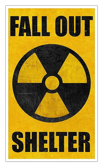 Fallout Shelter Nostalgia >> Amazon Com Fallout Shelter Yellow 13 X22 Vintage Style Showprint
