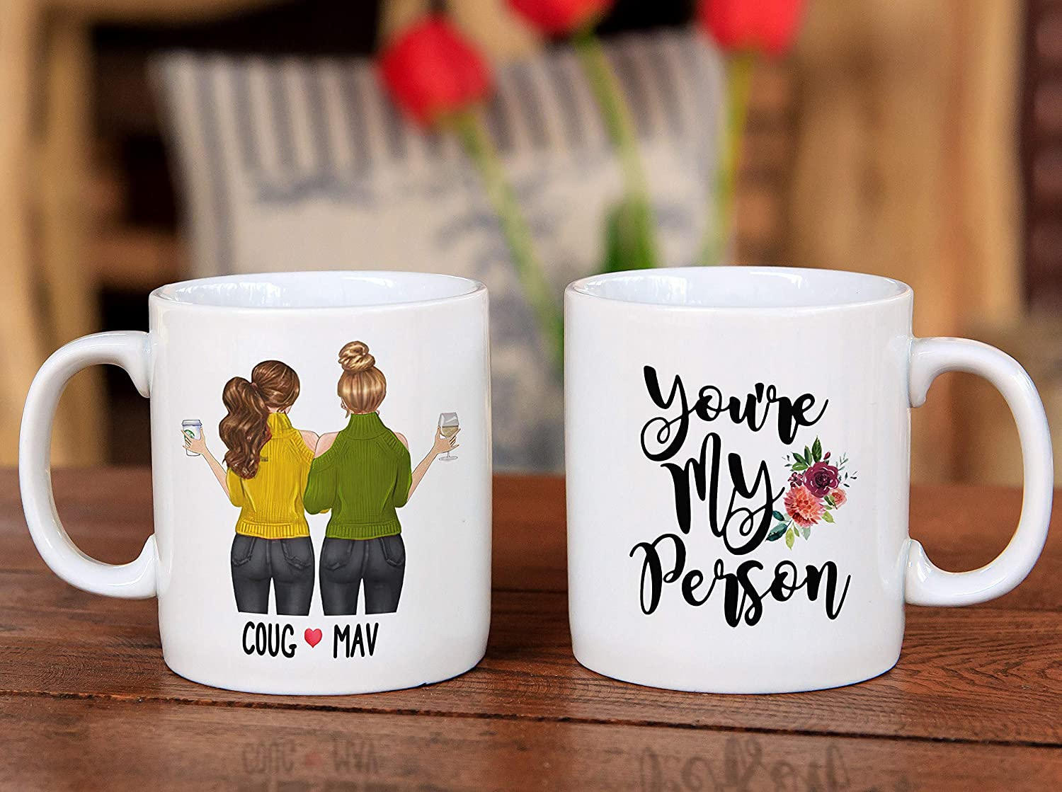 Amazon Com Nalips You Re My Person Custom Best Friend Mug Long Distance Gift Personalized Best Friend Gift Best Friend Coffee Mug Custom Girls Mug Coffee Cups Mugs