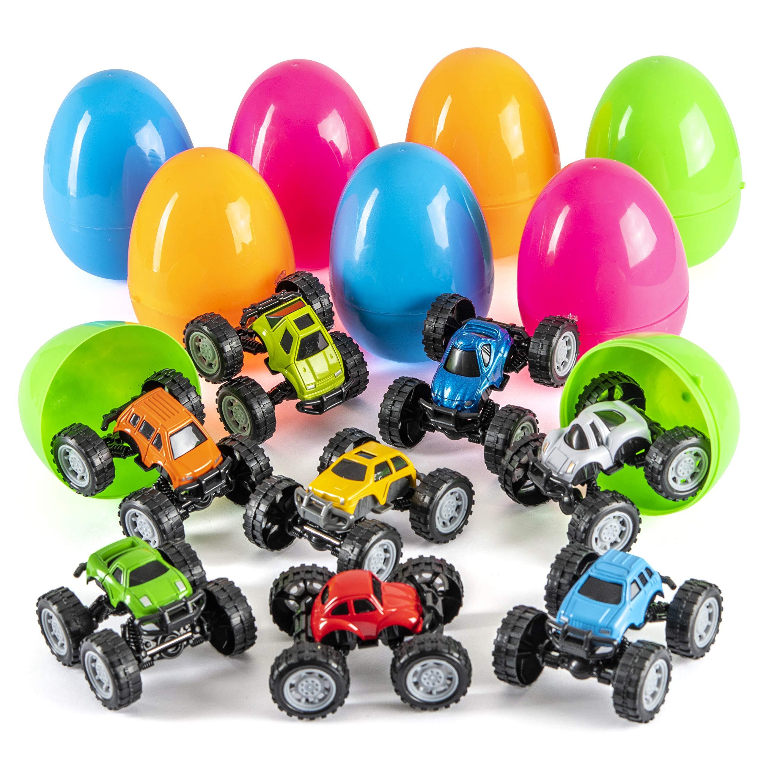 Prextex Jumbo Easter Eggs Filled with DIY Monster Trucks