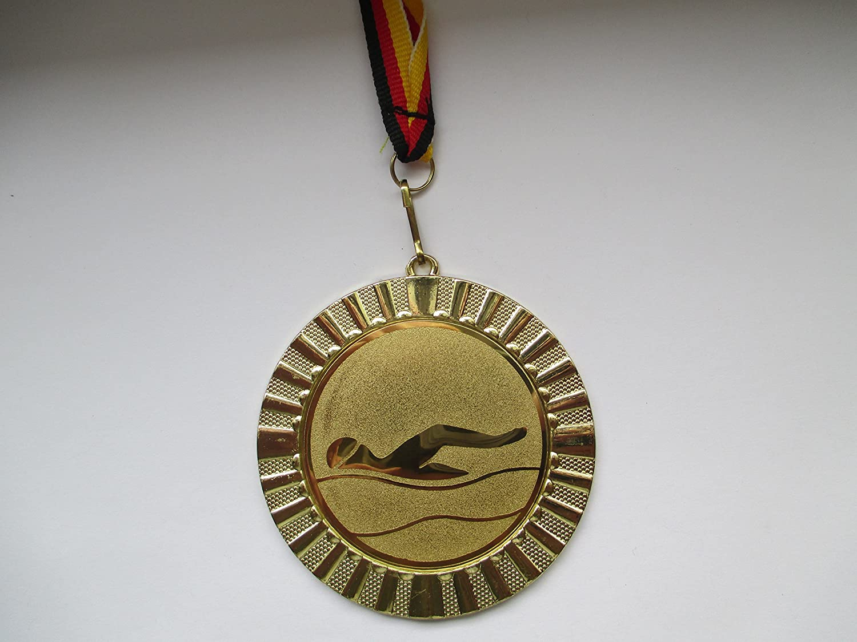 Pokale & Preise Dartscheibe Pokal Kids Medaillen 70mm 3er Set mit Deutschland-Band Emblem e103