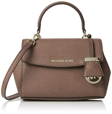 53ff32124082 Michael Kors Women s Ava Extra-small Saffiano Leather Crossbody Cross-Body  Bag Brown (
