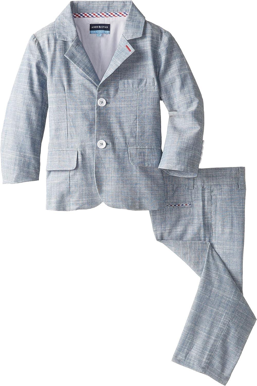 Andy /& Evan Grey Little Boys Chambray Vest