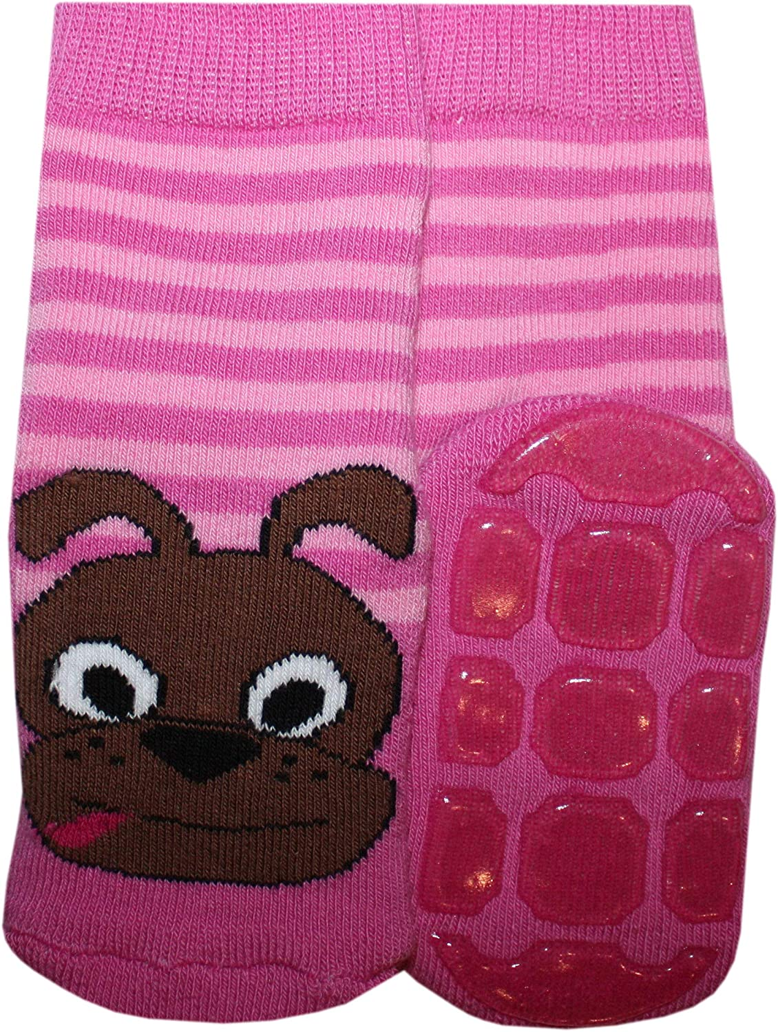 Pink Weri Spezials Baby and Children ABS-Turtle Slippers Anti Non Slip Socks Happy doggy